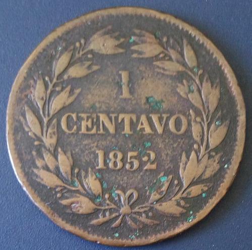 Moneda 1 centavo monaguero sin heaton en el anverso