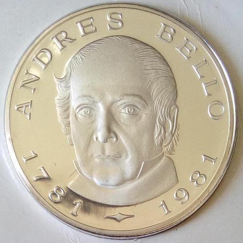 Moneda plata del bicentenario del nacimiento de andrés