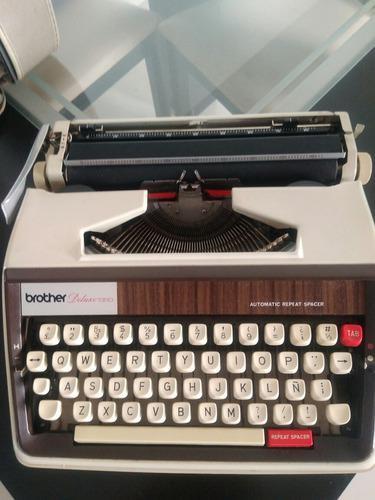 Máquina de escribir manuales marca brother de luxe 1350