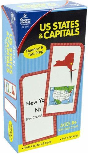 Tarjetas De Estados Y Capitales De Los Estados Unidos, Publ