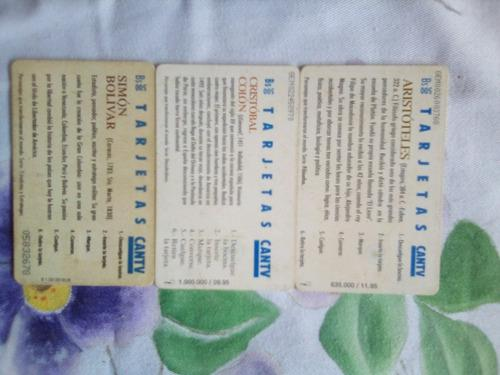 Tarjetas telefonicas usadas para coleccionistas