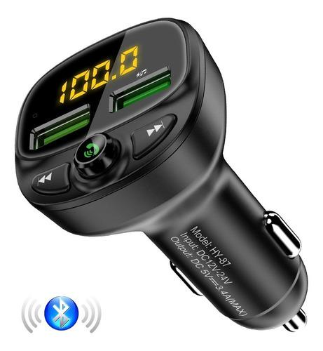 Transmisor Bluetooth Fm Adaptador Usb Microsd Cargador Carro