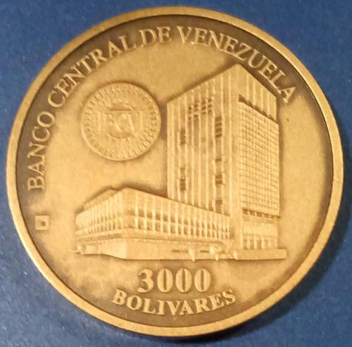 Moneda conmemorativa fundación casa de la moneda de 3000 bs