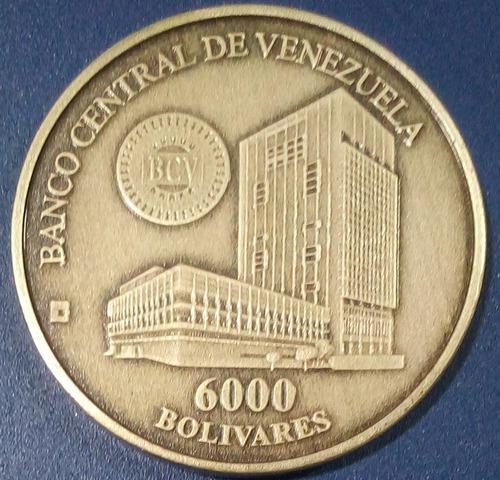 Moneda conmemorativa fundación casa de la moneda de 6000 bs