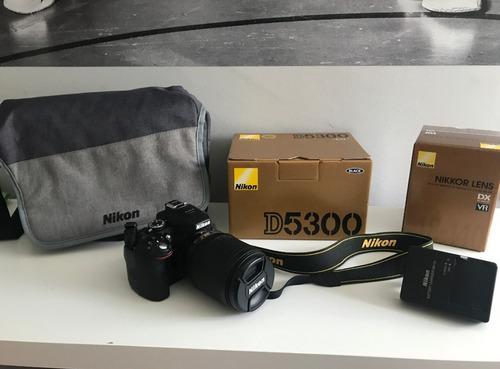Cámara Nikon D5300 + Lente 18-140mm + Lente 35mm 1.8 Y Mas
