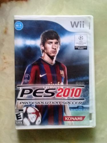 Video-juego pro evolution soccer 2010 para wii