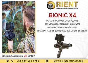 Detector de metales de largo alcance bionic x4