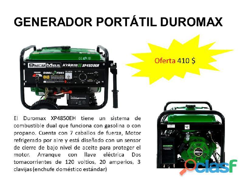 Generador planta eléctrica portátil duromax xp4850eh
