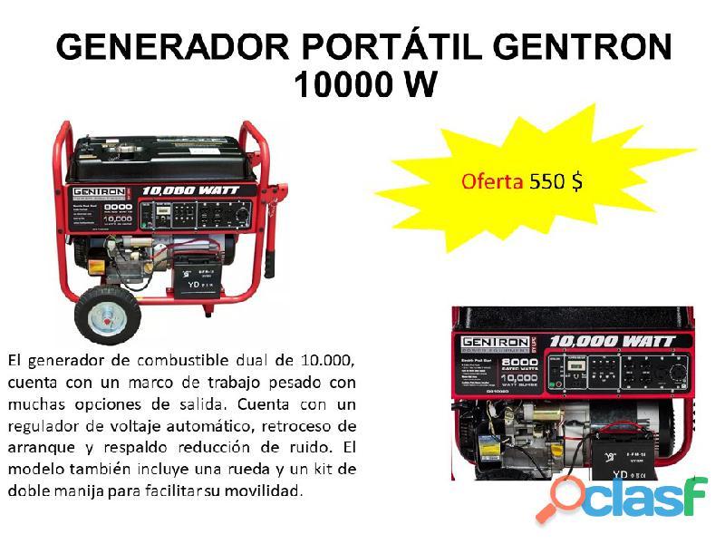 Generador planta eléctrica portátil gentron gg10020,