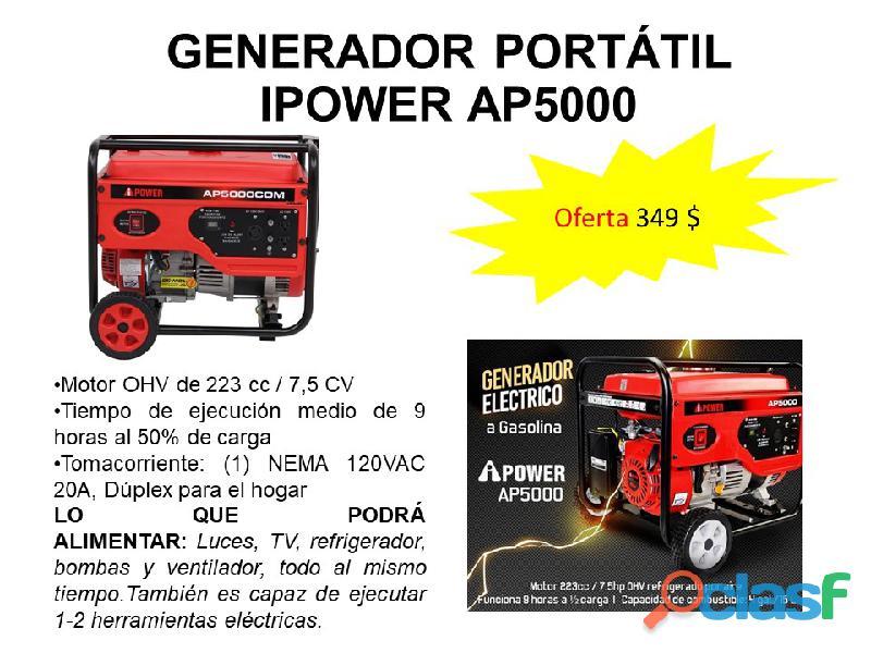 GENERADOR PLANTA ELÉCTRICA PORTÁTIL IPOWER AP5000