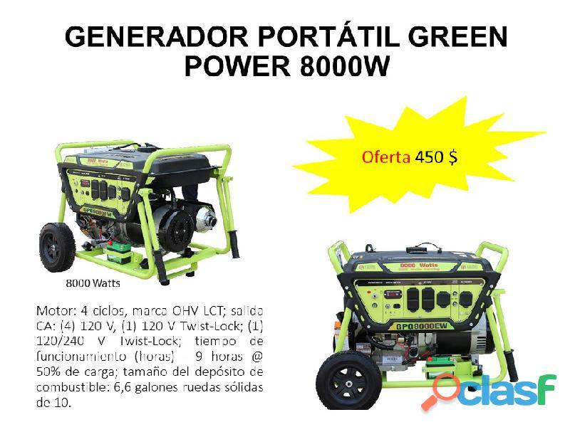 Planta eléctrica portátil greenpower 8000w gpg8000w