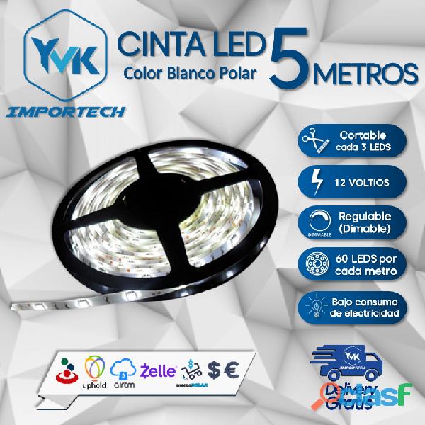 CINTA LED COLOR: BLANCO POLAR / 5 METROS