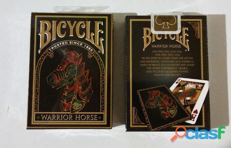 Barajas BICYCLE poker, magia, florituras DRAGON BACK GOLD y WARRIOR HORSE, IMPORTADAS, SELLADAS 2