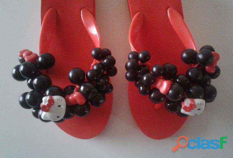 Cholas Sandalias Hello Kitty Producto Original talla 35 7