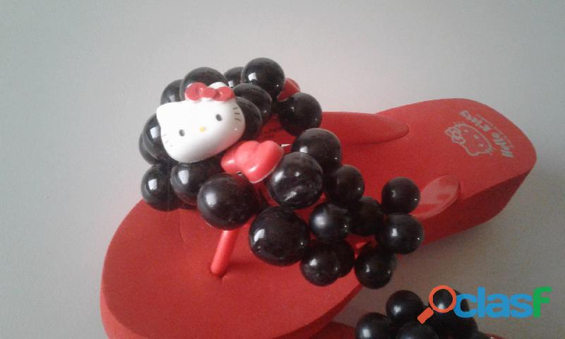 Cholas Sandalias Hello Kitty Producto Original talla 35 8