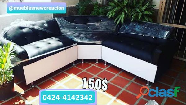 Mueble modular blanco y negro