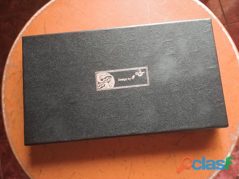 Juego de espejo compacto y porta tarjetas de presentación coreano (Najeon Chilgi) 1
