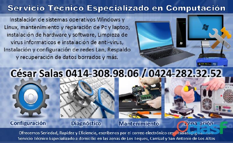 Servicio técnico especializado en computación altos mirandinos