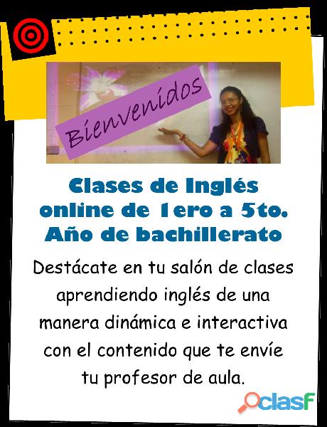 Clases de Inglés online de bachillerato