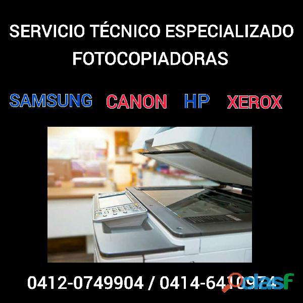 Servicio tecnico de fotocopiadoras y de impresoras laser