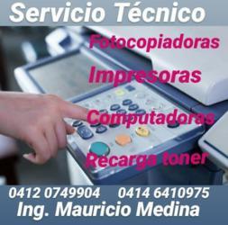 Reparacion de impresoras y fotocopiadoras en maracaibo y san