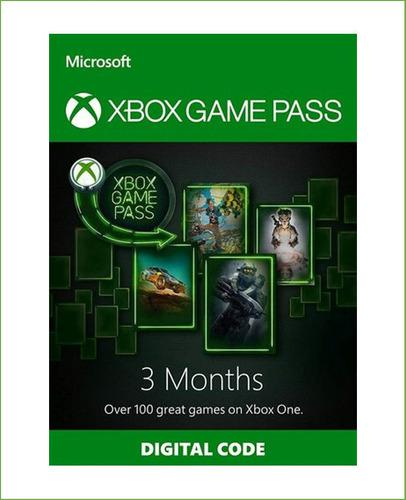 Xbox Game Pass 3 Meses Codigo Global