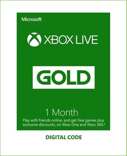 Xbox Live Gold 1 Mes Código Global