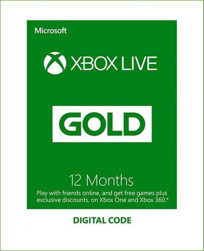 Xbox Live Gold 12 Meses Código Global