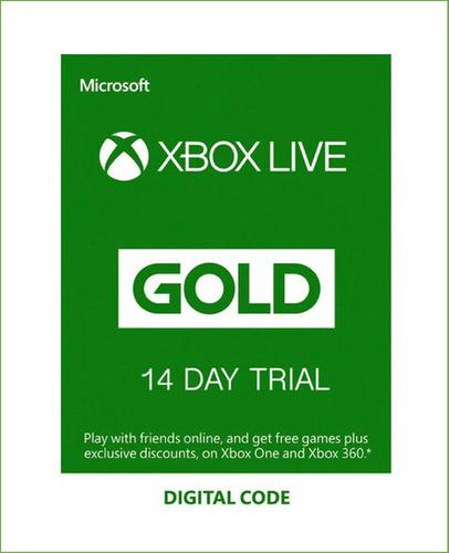 Xbox Live Gold 14 Días Trial Clave Global