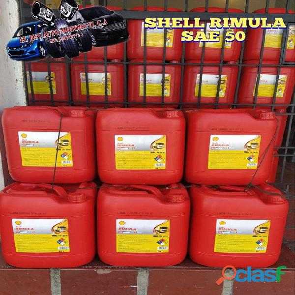 Aceite 50 diesel marca shell 20l