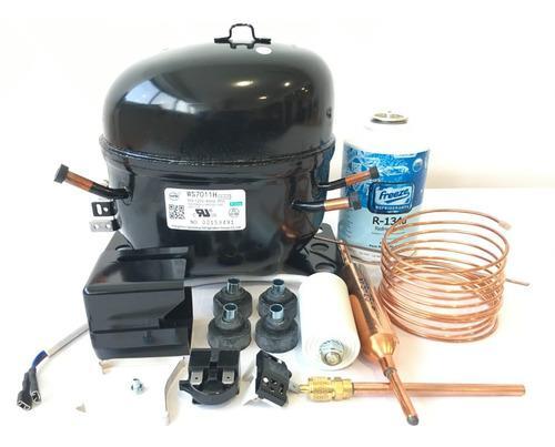 Compresor 1/3 hp 110v con kit instalación nevera congelador