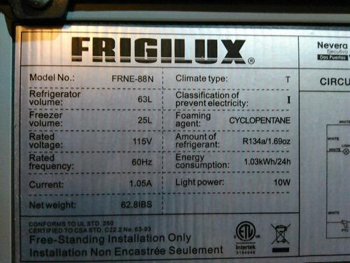 Nevera ejecutiva frigilux 2 puertas 200lechugasnegociable