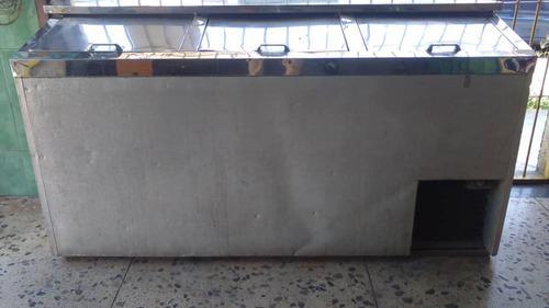 Refrigerador de 3 puertas en acero inoxidable