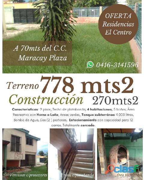 Hermosa casa 2 plantas c/platabanda Urb. Residencias El Centro