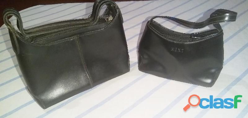 Carteras de mano x2 (color negro) marca next