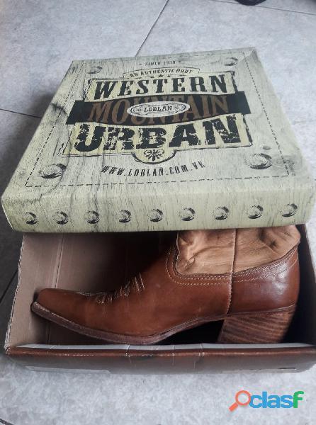 Botas Loblan Originales Western De Dama # 39