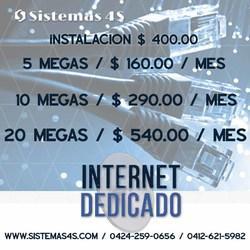 Internet dedicado para negocios, empresas y hogares. caracas
