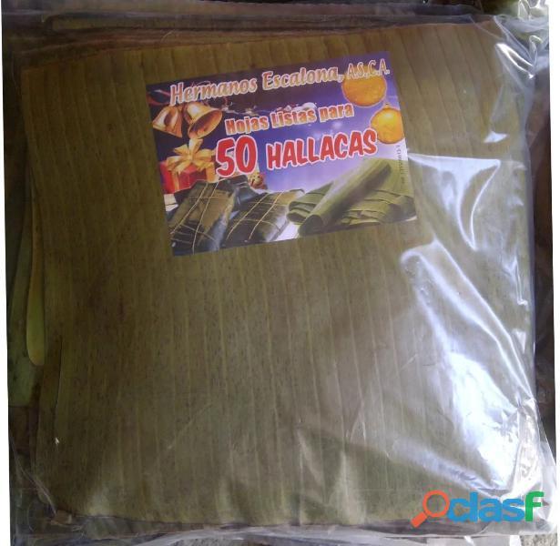 Paquetes de Hojas de Hallacas al Mayor 50 unidades