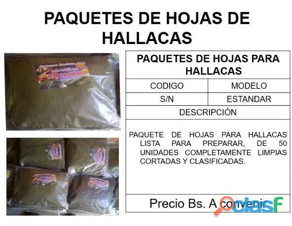 Paquetes de Hojas de Hallacas al Mayor 50 unidades 2