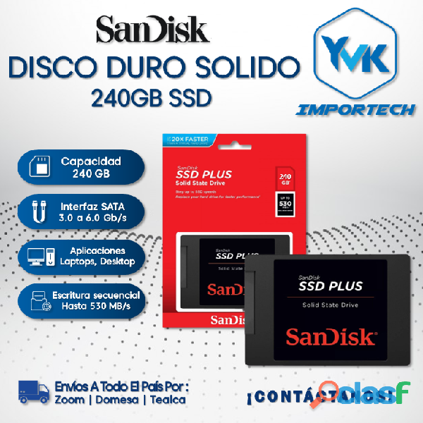 Disco Duro Solido 240GB SSD