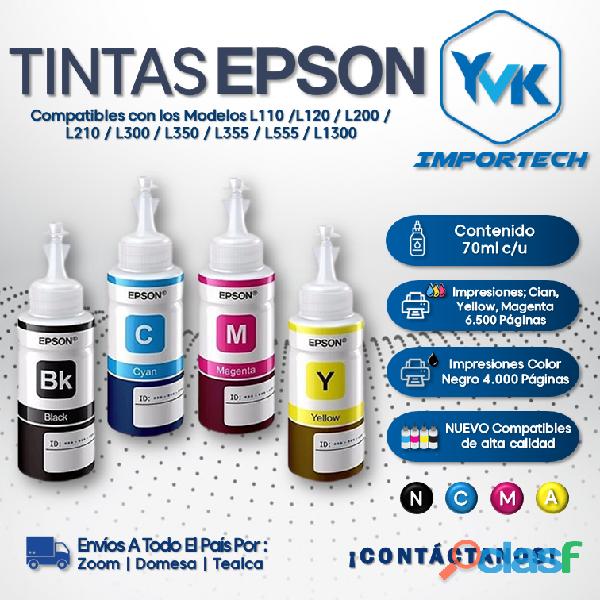 TINTAS EPSON 4 Colores