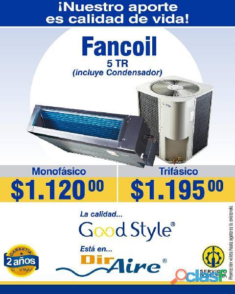 EQUIPOS FANCOIL, GABINETE, PISO TECHO