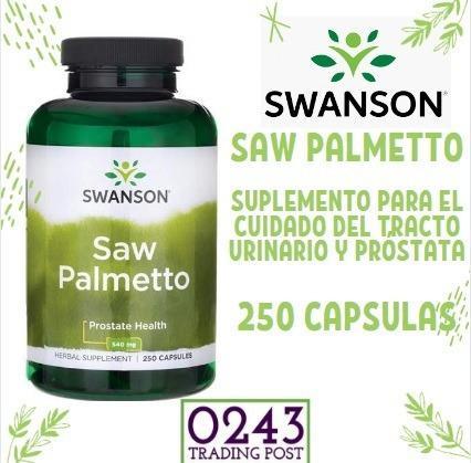 Revista saw palmetto. salud prostática. próstata. 250cap