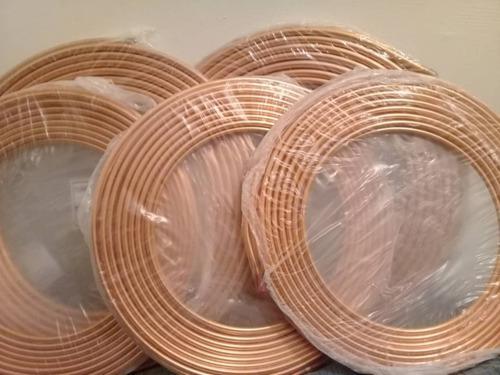 Tuberia rollo flexible de cobre 7/8 3/4 1/2 3/8 1/4 x metro