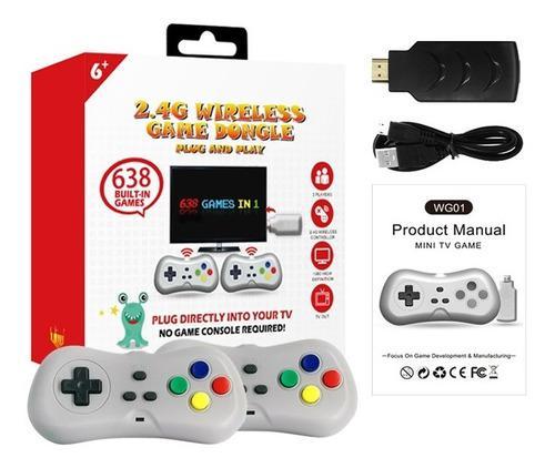 Consola 638 juegos hdmi nes snes nintendo somos tienda (30v)