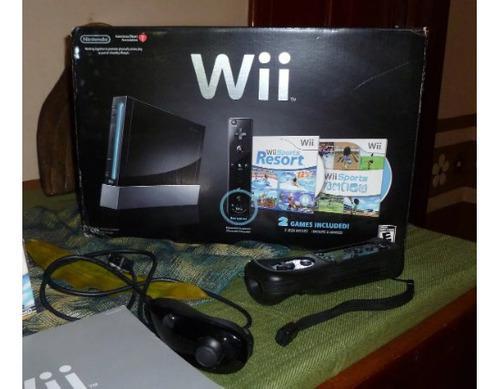 Consola Wii Sport Resort Negro
