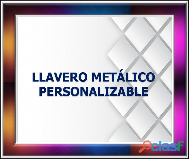 LLAVERO METÁLICO PERSONALIZABLE