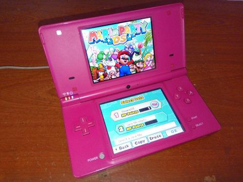 Consola juegos nintendo dsi pink edition r4 mario party