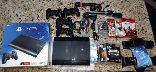 Play 3 full accesorios 2 control y 9 juegos