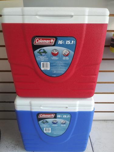 Cavas Coleman 15.1 Ltr 16 Qts Rojo Y Azul